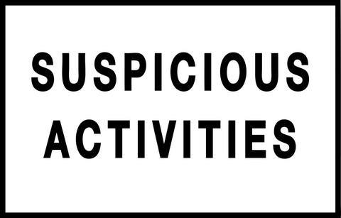 SUSPICIOUS ACTIVITIES.press release-1